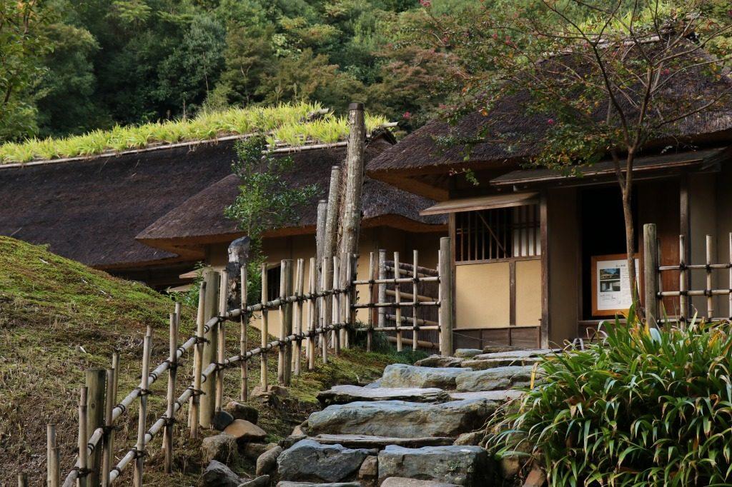 茨城県、西山荘の庭園入口