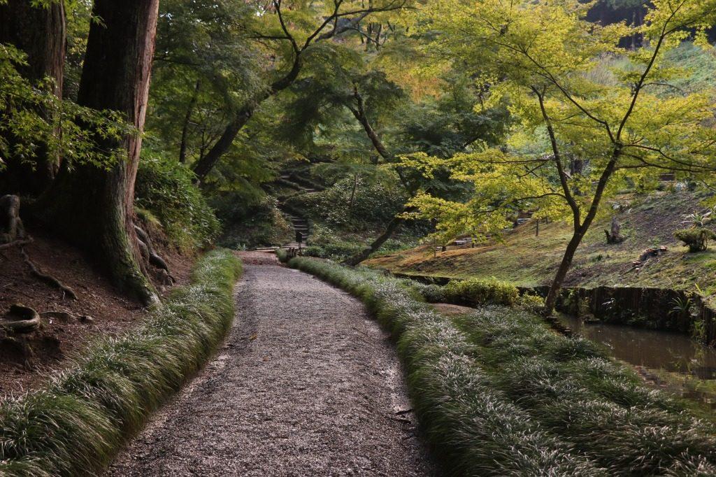 茨城県、西山荘の庭園