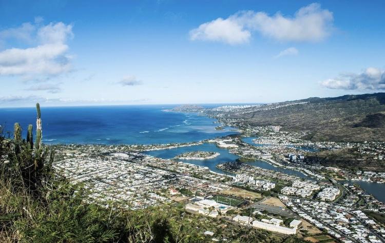 ハワイ、ココヘッドトレイルの絶景ビュー
