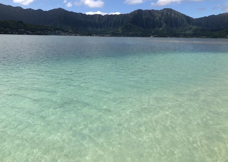 ハワイ、サンドバーは天使の海