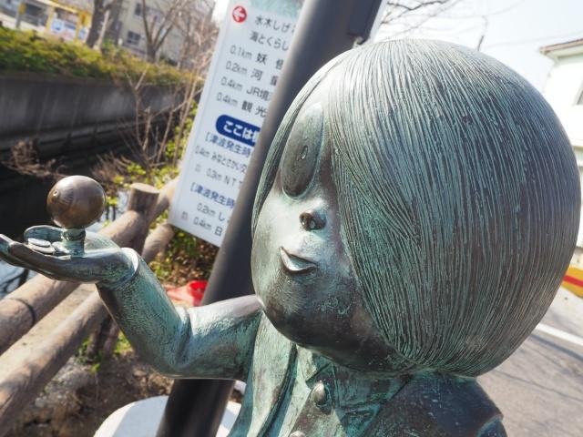 鳥取県、水木しげるロードの鬼太郎