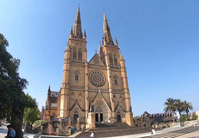 オーストラリア、セント・メアリー大聖堂の外観