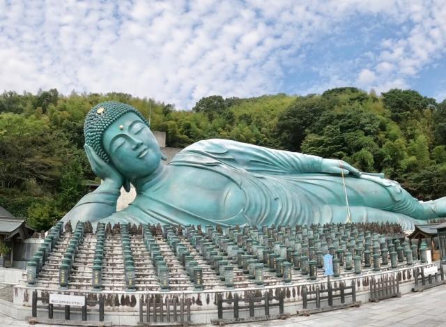 福岡県、南蔵院の釈迦涅槃像