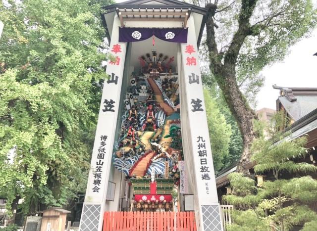 福岡県、櫛田神社に展示されている山笠