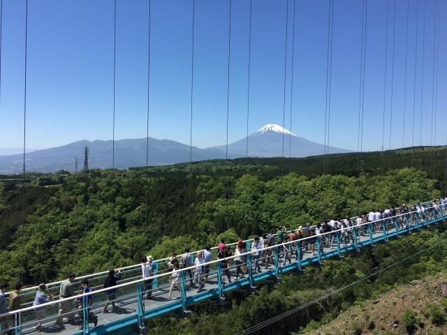 静岡県、三島スカイウォークの富士山