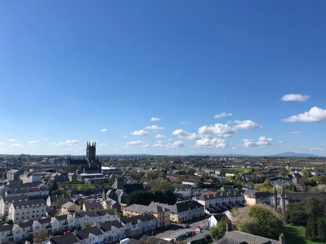 アイルランド、聖カニス大聖堂の塔の上からの絶景