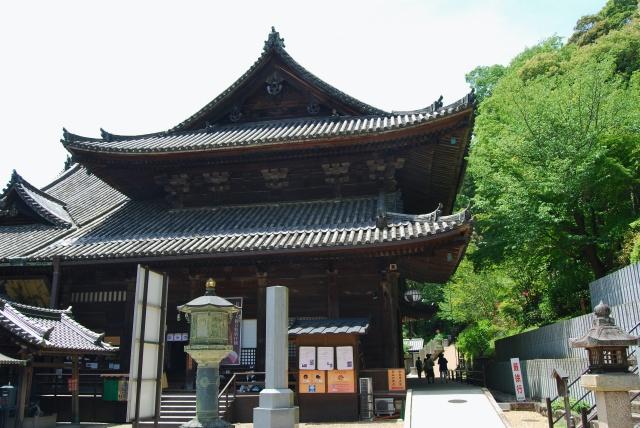 奈良県、大和国長谷寺の本堂