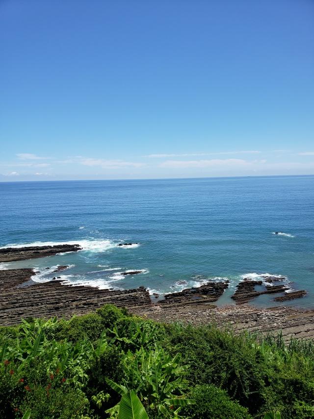 宮崎県、堀切峠の絶景の海