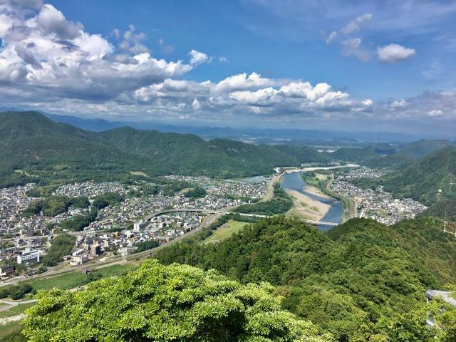 岐阜県、岐阜城の上からの絶景